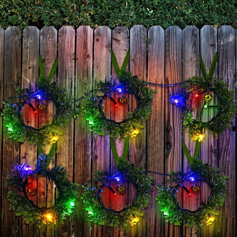 SOLARMKS Solar String Lights 72ft Outdoor String Lights,200 LED Season Decorative
