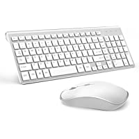 Wireless Keyboard and Mouse,JOYACCESS USB Slim Wireless Keyboard Mouse with Numeric Keypad Compatible with iMac Mac PC…