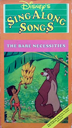 409697ffa Image Unavailable. Image not available for. Color  Sing Along Songs - The  Bare Necessities (The Jungle Book) VHS