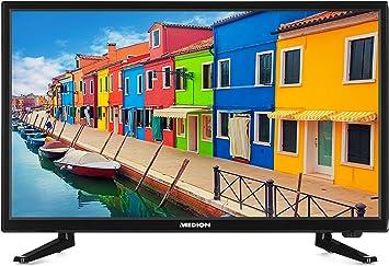 MEDION Life p13175 MD 21442 54,6 cm (21,5 Pulgadas Full HD) televisor (– Televisor LCD con retroiluminación LED, sintonizador Triple, DVB-T2, HDMI, USB, Ci +, Reproductor Multimedia), Color Negro: Amazon.es: Electrónica