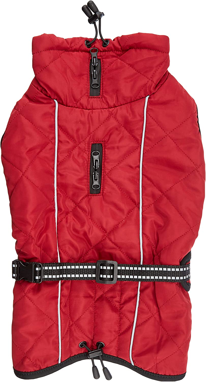 TRIXIE Abrigo Minot, XS: 30 cm: 28-46 cm, Rojo, Perro
