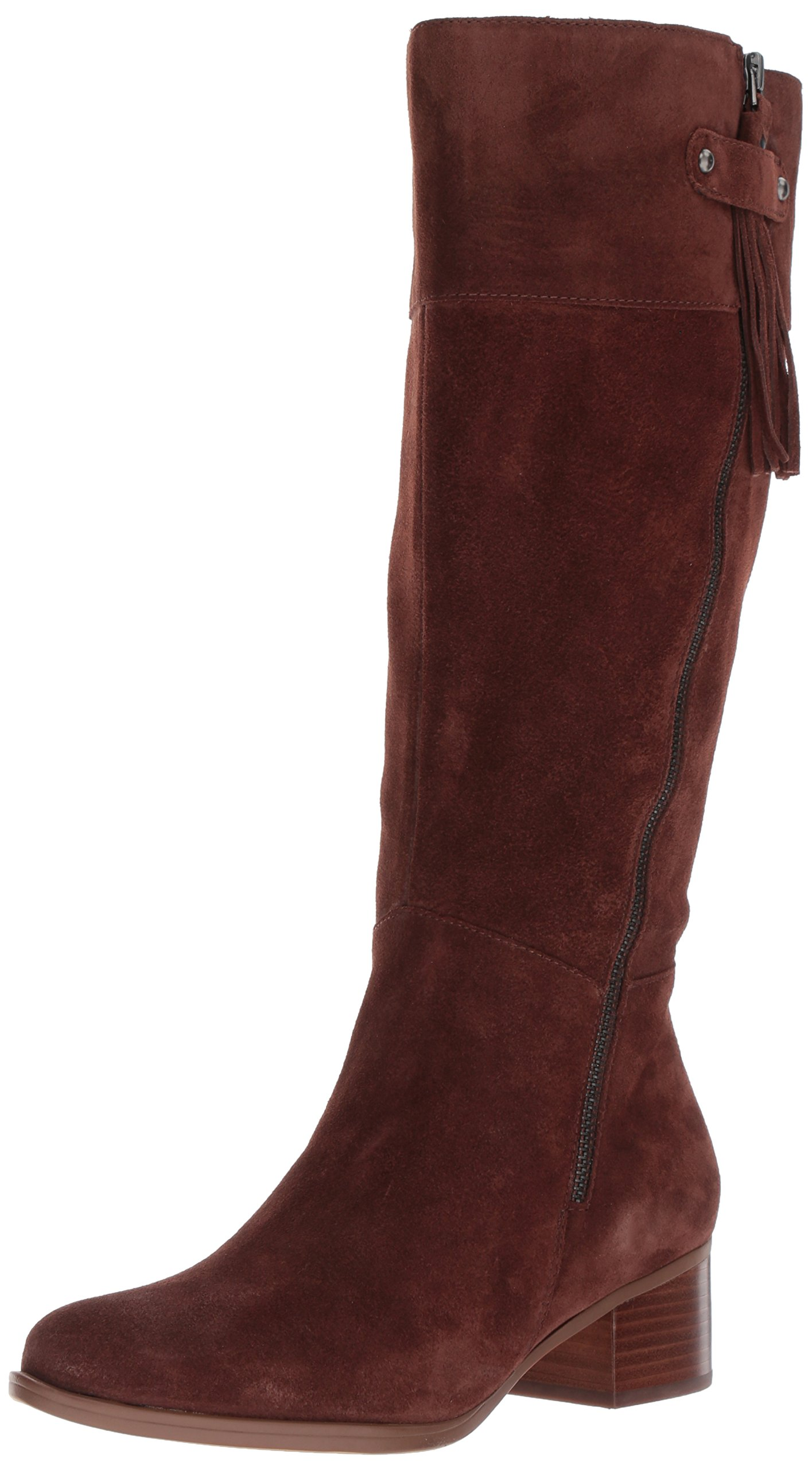 Naturalizer Women's Demi Wc Riding Boot, Chocolate, 8.5 M US
