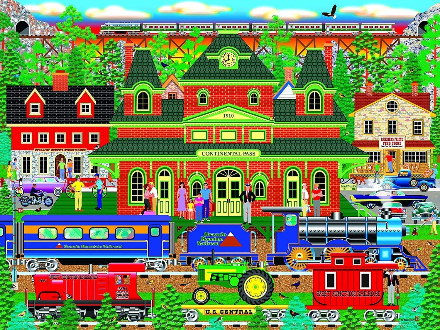 Mountain Rail Holiday, Home Country Collection 1000 Piece Jigsaw Puzzle by Artist: Mark Frost