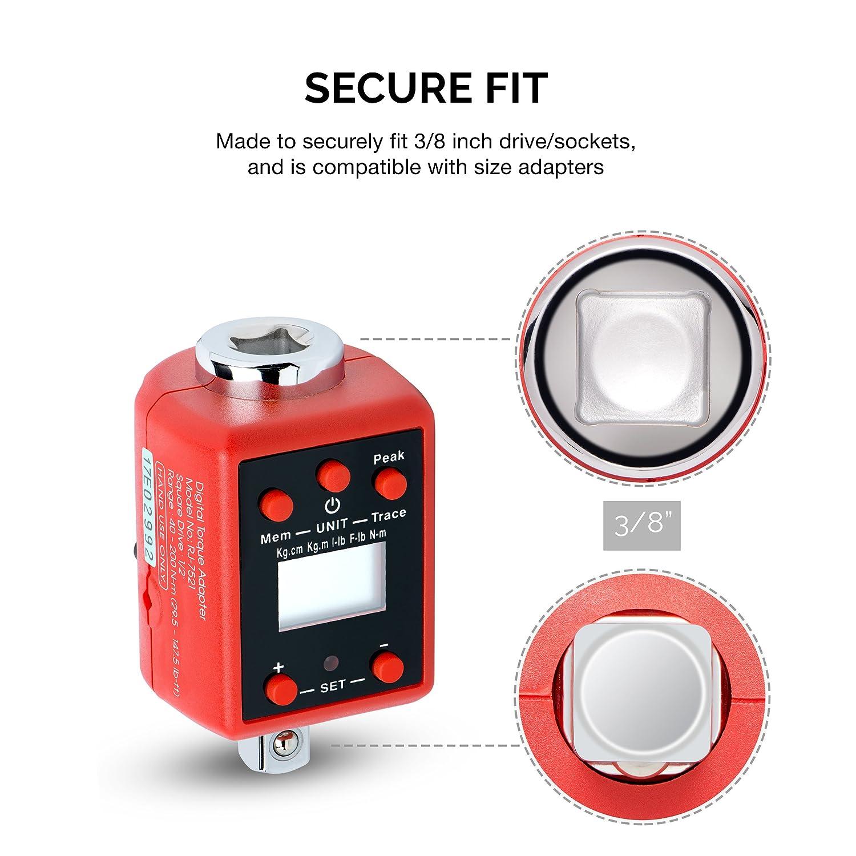 Neiko 20743A Digital Torque Adapter 147-750 Foot-Pound Audible Alert Drive 3//4
