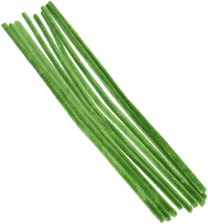 Chenille Stems 6mm 12 100//Pkg-Moss Green Darice 10166-64