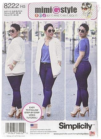 Simplicity 8222 Mimi G Bomber Jacke und Stretch Skinny Jeans ...