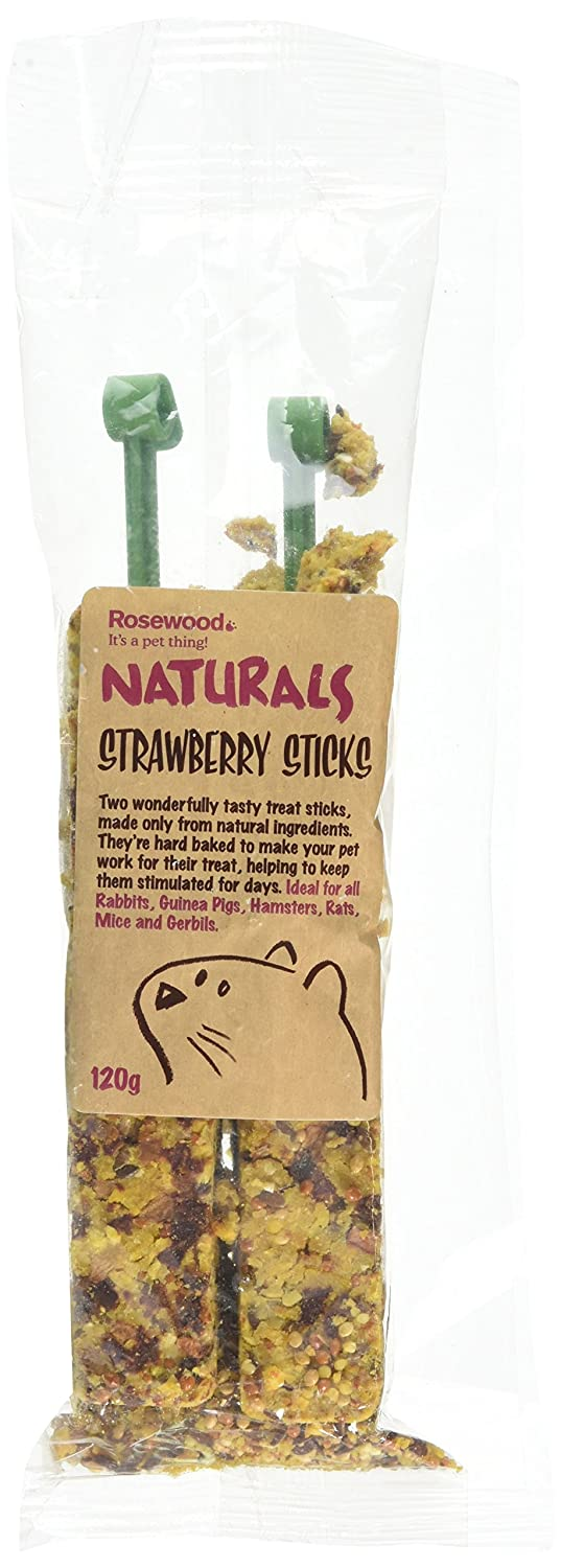 ROSEWOOD Naturals Strawberry Sticks Treat 120 g Rosewood Pet Products 19401