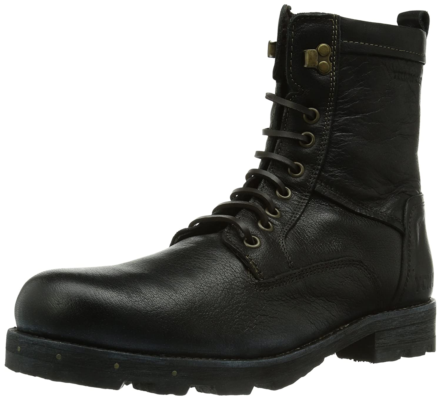 uk availability c9109 1998c Yellow Cab Charger M, Mens Combat Boot, Black (Black), 9.5 ...