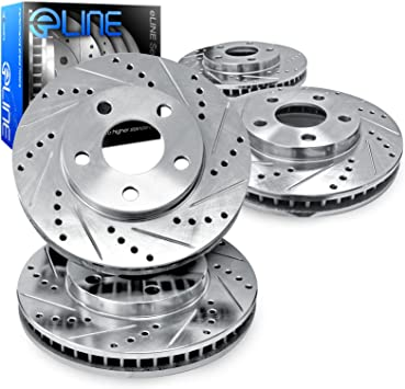 2006 2007 2008 2009 Lexus IS250 Rotors Ceramic Pads R Slotted Drilled