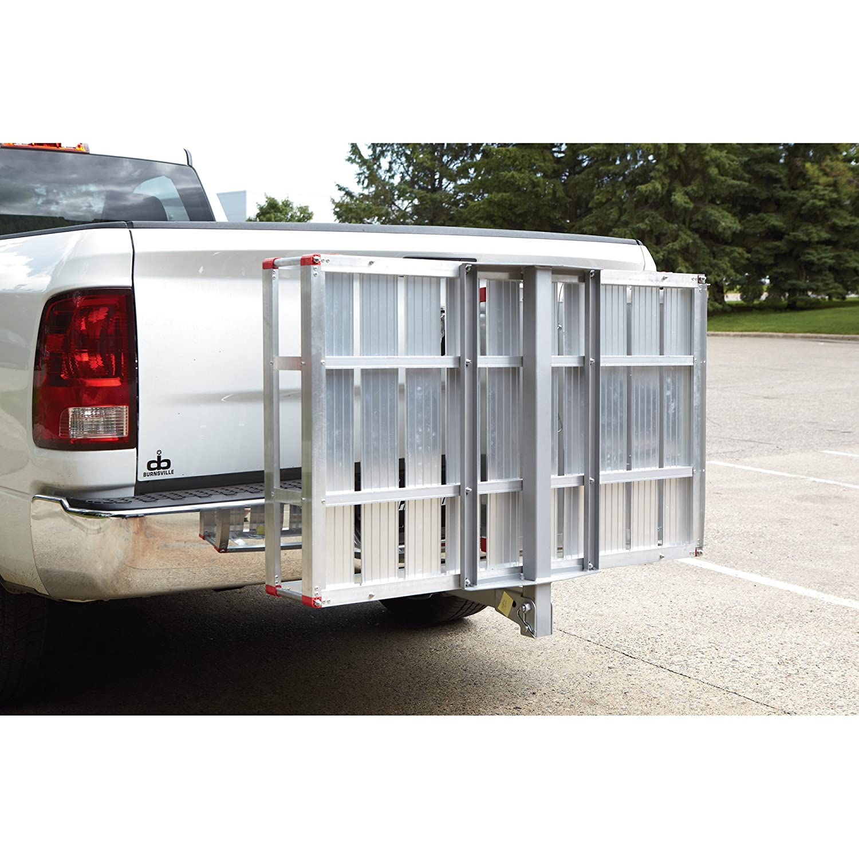 carrier ramp. amazon.com: ultra-tow aluminum folding hitch cargo carrier with ramp- 500-lb. capacity 60inl x 29 1/2inw: sports \u0026 outdoors ramp