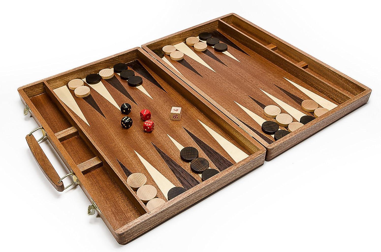 Königliche Backgammon dunkel - große 50cmm / 19,7 In Handcrafted hölzernen Backgammon