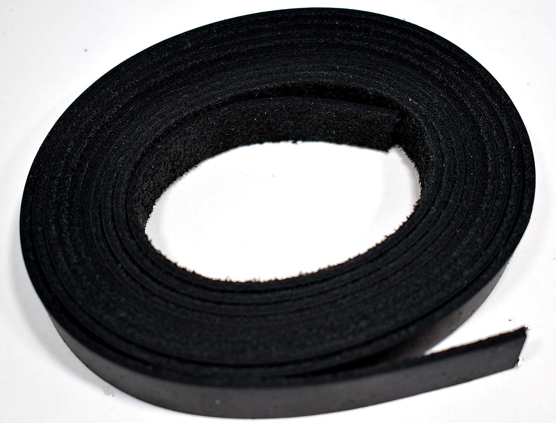 1 x 84 BLACK OIL TANNED Leather Strip 5-6oz LeatherRush