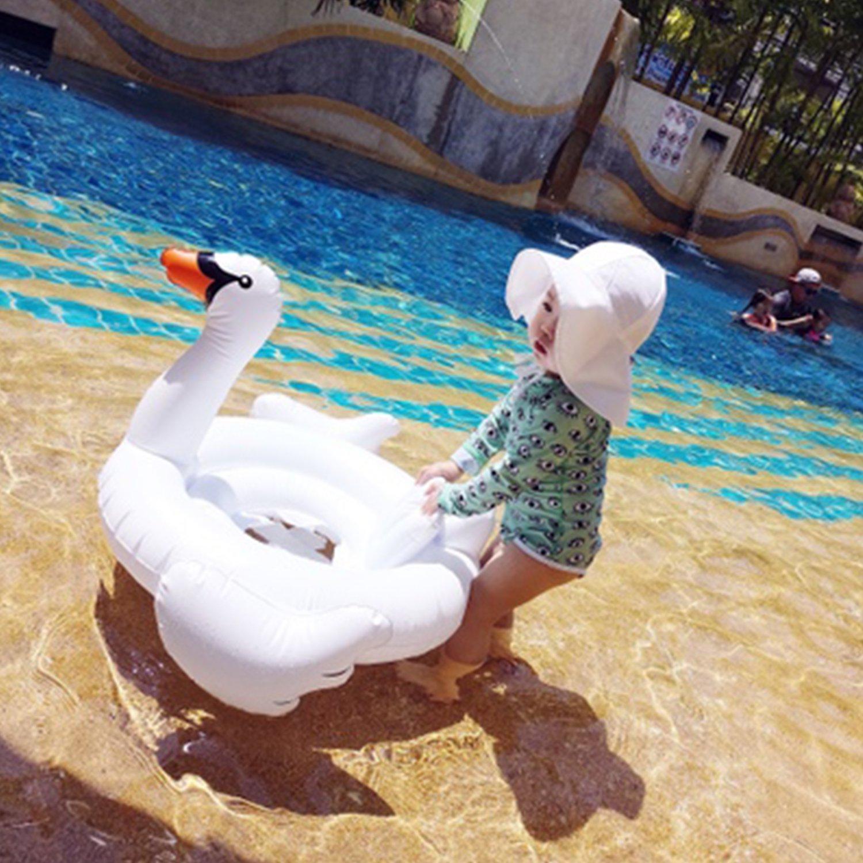 Kids Sun Hat Boys/Girls Toddlers Sun Protection Hat UPF50+ Long Neck Flap Swim Hat (2 Navy Blue) by Sunlightfree (Image #5)
