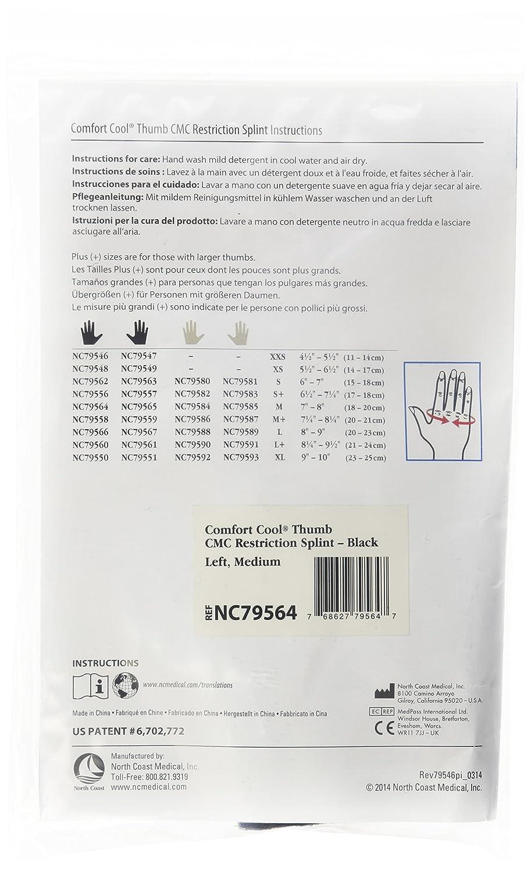 Amazon North Coast Medical Comfort Cool Thumb Cmc Restriction