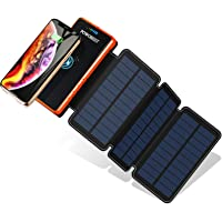 Powobest YD-820W 20000mAh Portable Wireless Solar Power Bank with 2 USB Charging Ports