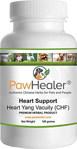 Heart Support – Heart-Yang Vacuity CHF – Coughing, Gagging, Wheezing Due to Heart Condition – 100 Grams-Herbal Powder-Remedy for Dogs Pets