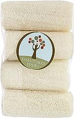 Natural Exfoliating Loofah Sponges   Natural Bath and Body Sponge, 4