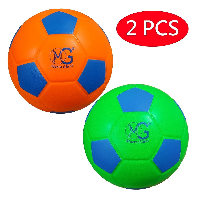 マクロGiant 7.5インチセーフソフトFoamトレーニング練習サッカーボール、2のセット、ネオンカラーPlaygroundボール、子供、スポーツ玩具、Kickball、ビーチアクティビティ、学校Playground、誕生日ギフト B0793N7WX7Neon Orange & Neon Green