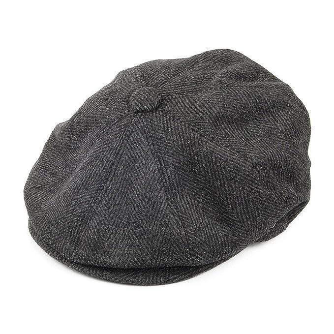 47a4b5a715512 GREY HERRINGBONE 8 PANEL CAP  Amazon.co.uk  Clothing
