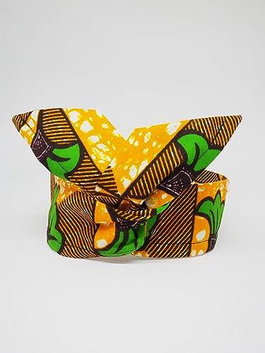 Bandeau Headband Hairband Tissu Africain Wax Fleur De Mariage Vert
