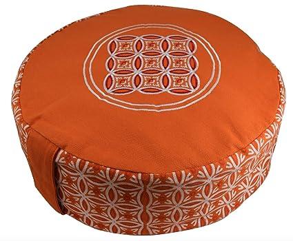 Orado Products Premium Zafu Meditation/Yoga Cushion filled with 100% USA grown Organic Buckwheat Hulls- Perfect for daily Meditation or Yoga