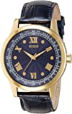 Guess W0662G3 45mm Stainless Steel Case Blue Calfskin Mineral Men's Watch