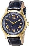 Guess Herren-Armbanduhr Analog Quarz Leder W0662G3