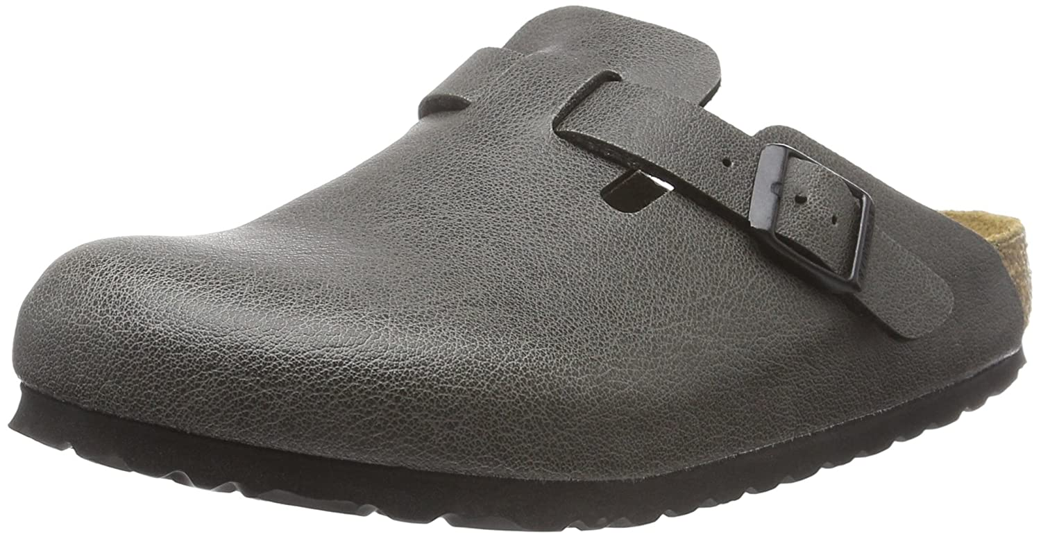 BIRKENSTOCK Unisex Erwachsene Boston Birko Flor Clogs Grau (Pull Up Anthracite)