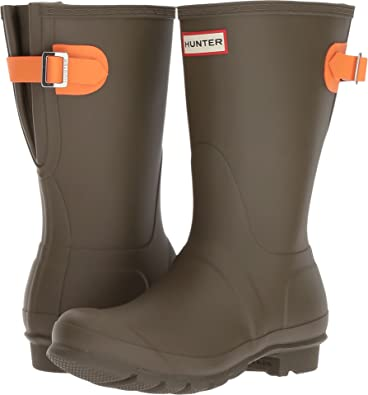 Amazon.com | Hunter Womens Original Back Adjustable Short | Rain Footwear