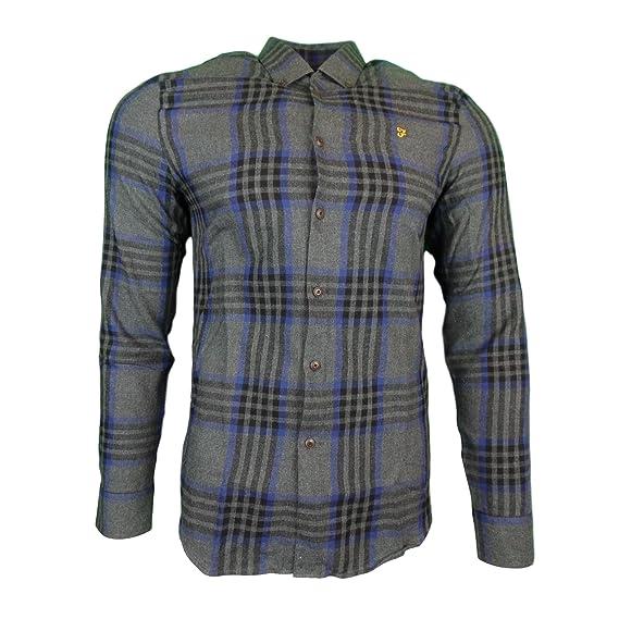 Farah Port Slim Ls Check Shirt Gry Marl XXL  Amazon.fr  Vêtements et  accessoires c94cca398057