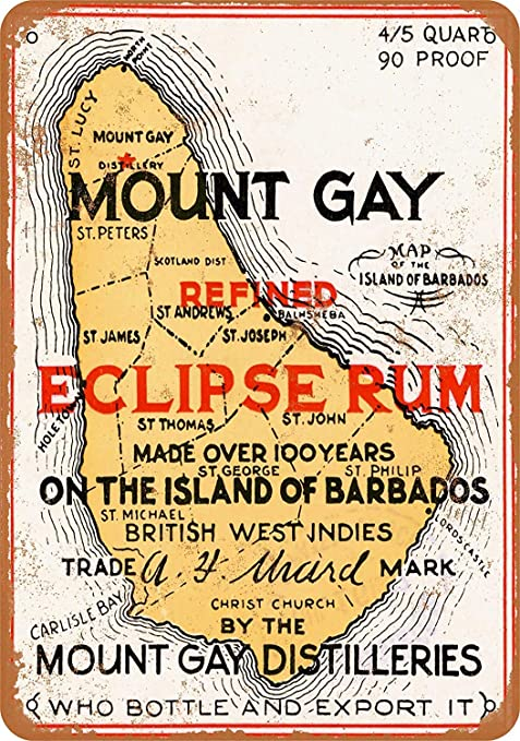 Mount Gay Eclipse Rum Póster De Pared Metal Retro Placa ...