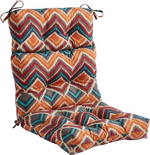 Greendale Home Fashions AZ4809-SURREAL Aztec 44'' x 22'' Outdoor Seat/Back Chair Cushion