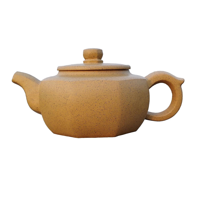 Yixing Teapot Mr Gu Handmade Six Edges Tea Pot,Nature Yellow Clay,280cc yixingteapot201714