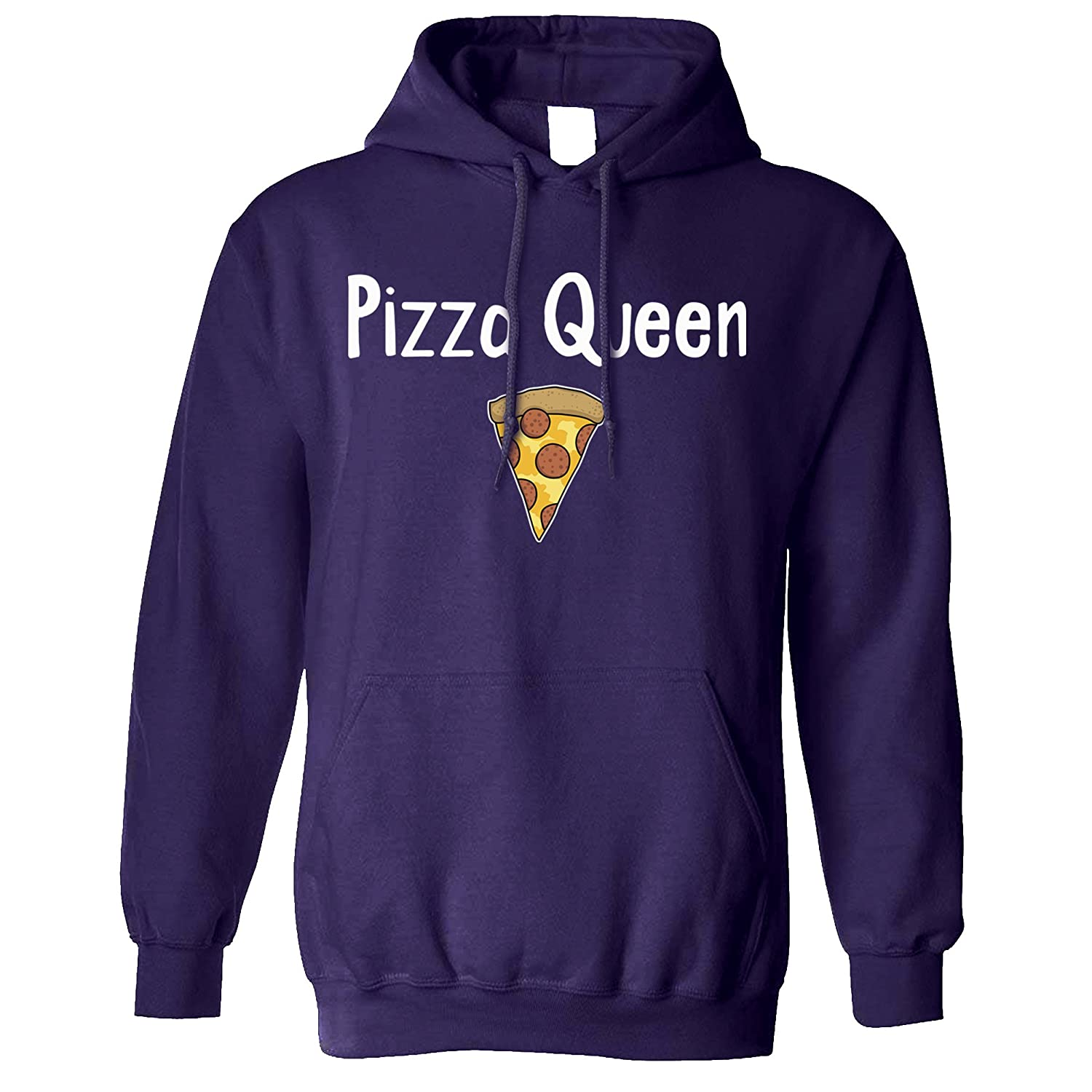 Tim And Ted Funny Food Unisex Hoodie Pizza Queen Slogan with Slice