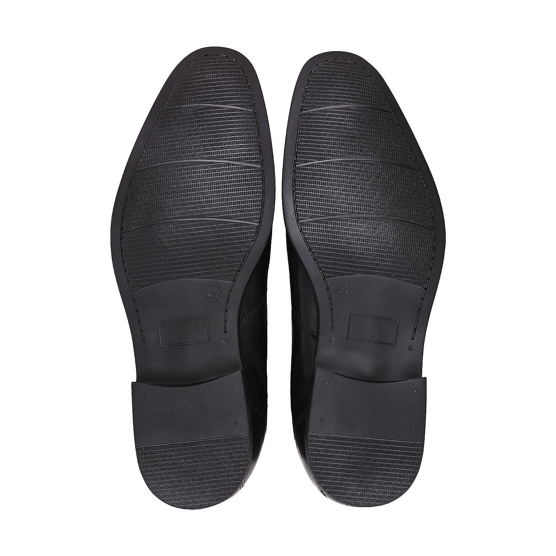 DRIEVHOLT Herren Herren Chelsea-Stiefel aus Leder, Freizeit-Stiefel in Schwarz mit mit mit rutschhemmender Sohle e1b54d