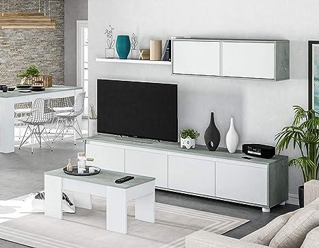 HABITMOBEL Pack Salon Completo: Mueble salón + Mesa de ...