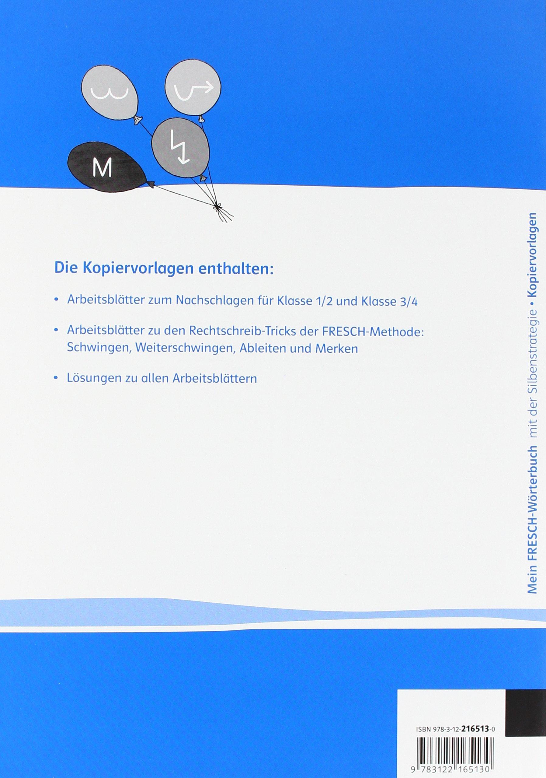 Mein FRESCH-Wörterbuch: mit der Silbenstrategie. Kopiervorlagen ...