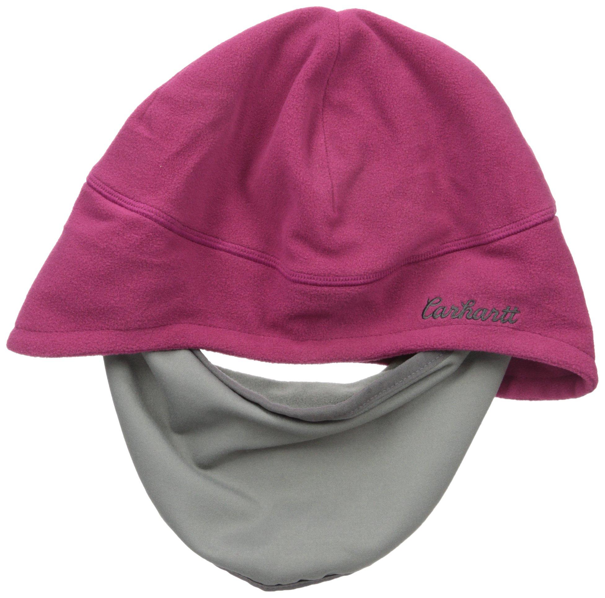 Carhartt Women's Gretna Fleece 2 in 1 Hat and Face Mask, Raspberry, One Size by Carhartt