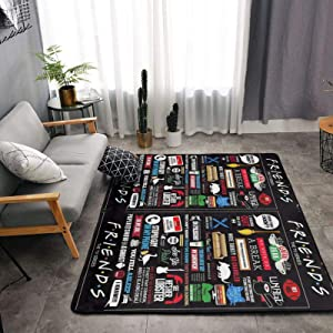 Fr-Ie-Nd-s Mild T-v S-How Carpets Indoor Rugs Living Room Area Rugs Suitable for Children Play Home Decorator Floor Bedroom Carpet 63 X 48 Inches,White,One Size
