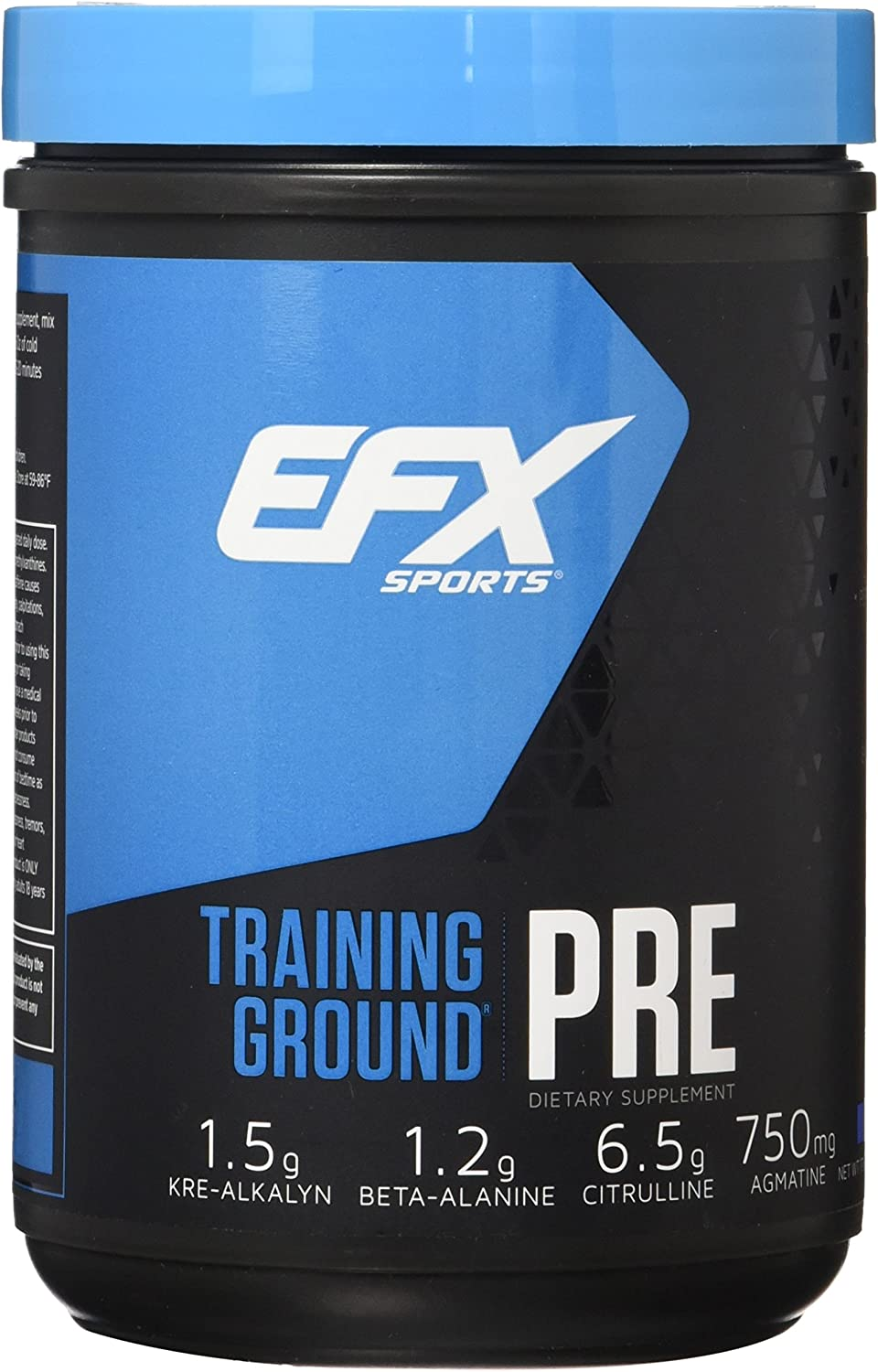EFX Sports Training Ground Pre Workout Powder, Blueberry, 500 Gram