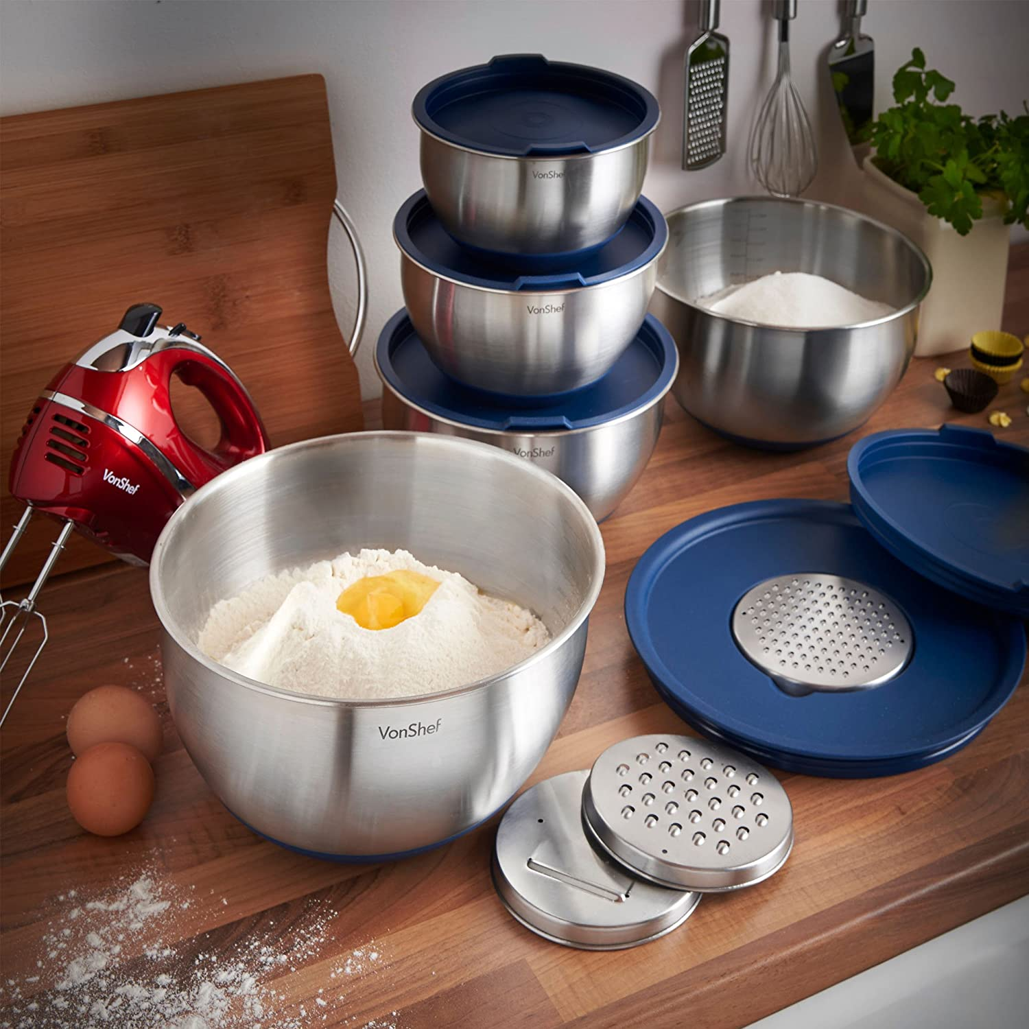 Stackable Stainless Steel Bowl Set