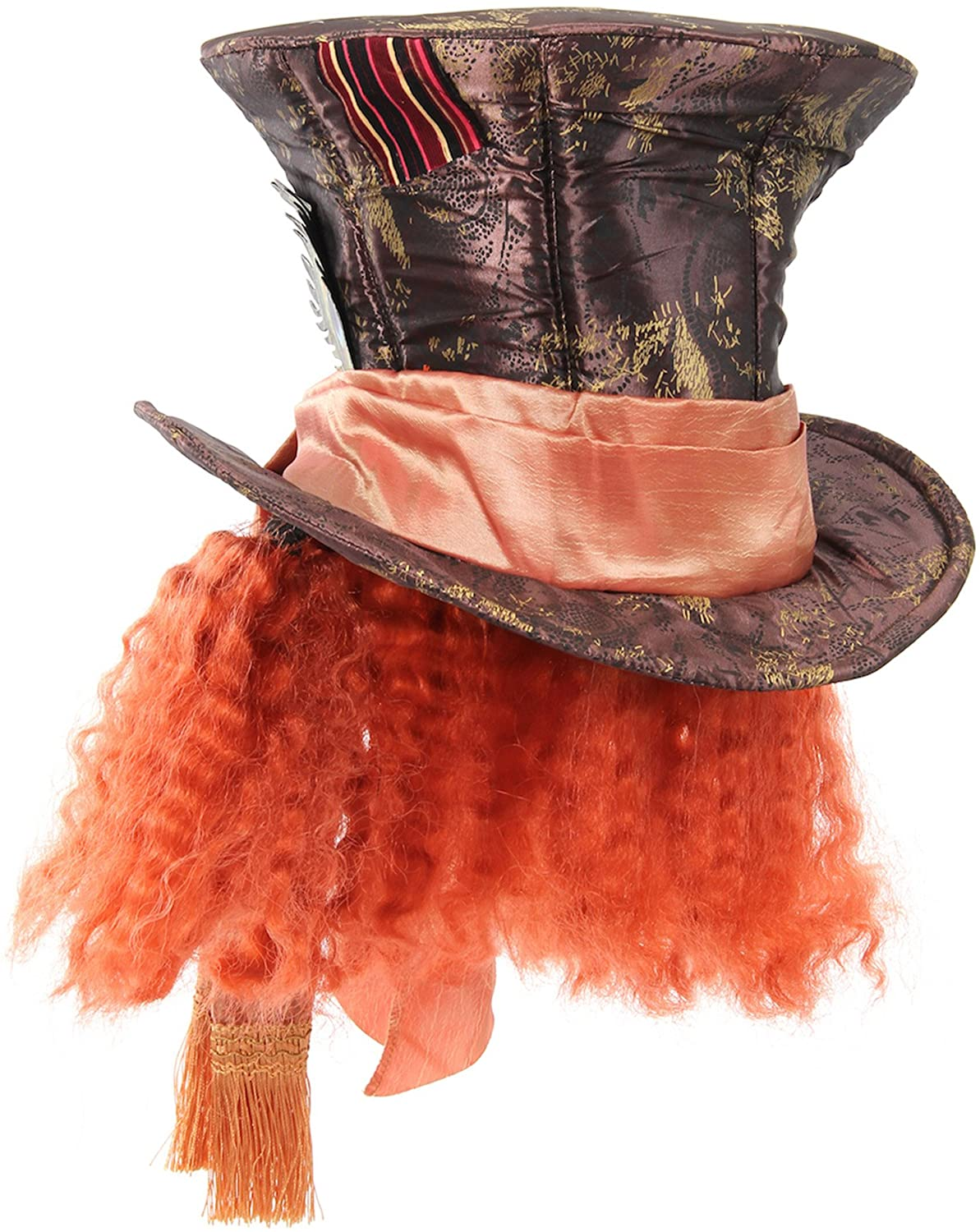 Disney Mad Hatter Hat with Hair for Women and Men by elope: Clothing