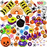 JOYIN Over 100 Pieces Halloween Toys Assortment for Halloween Party Favors, School Classroom Rewards, Trick or Treating, Halloween Miniatures, Halloween Prizes