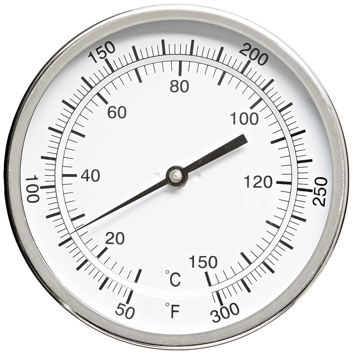 "PIC Gauge B5A9-MM 5"" Dial Size, 50/300°F and 10/149°C, 9' Stem Length, Adjustable Angle Connection, Stainless Steel Case, 316 Stainless Steel Stem Bimetal Thermometer 9 Stem Length PIC Gauges"