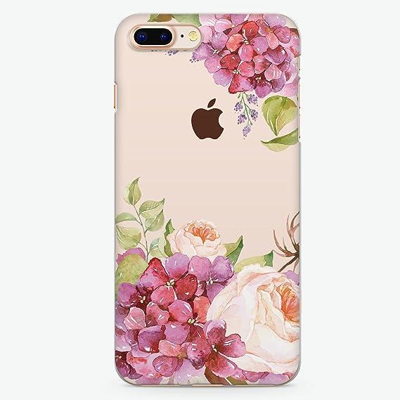 huge discount 0a968 36b52 Amazon.com: Hanogram Pretty Floral iPhone 8 Plus / iPhone 7 Plus ...