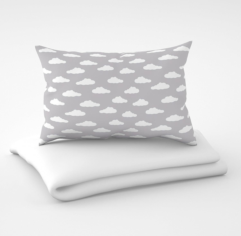 Ropa de cama y nido de almohada Seis cojines con fundas para la cuna de 60 x 120 cm