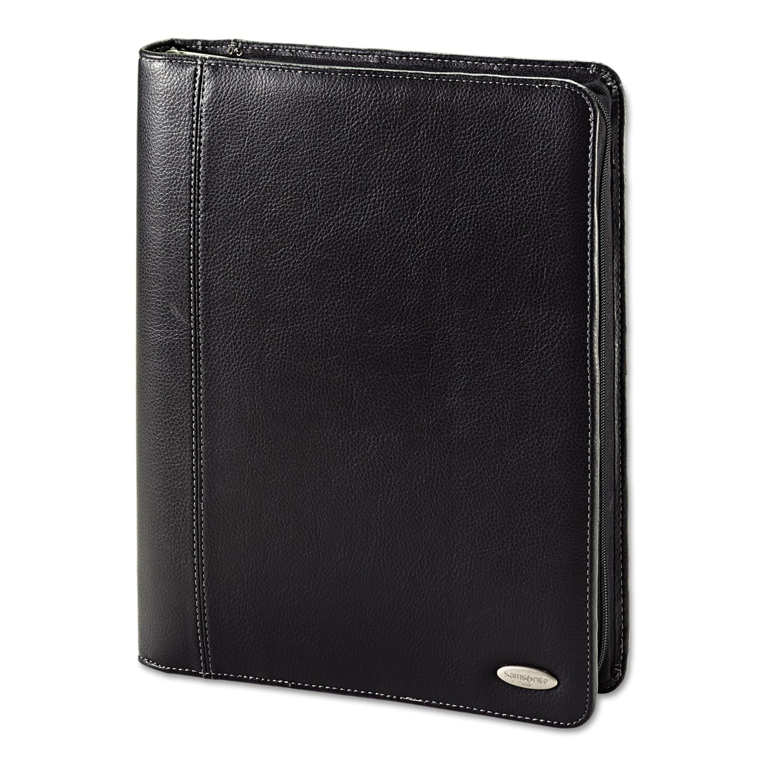 Samsonite Cosco Zip Bi-Fold Pad folio, 8 1/2 x 11, Black (961145)