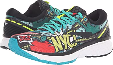297fff88e411d Brooks Women s Ghost 11 Black Green Pop Art 5 B US B (M