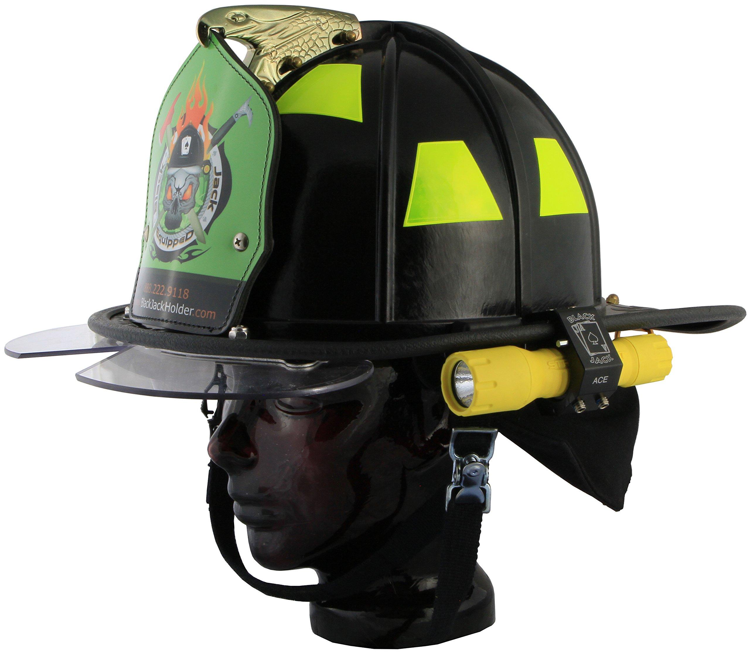 Blackjack ACE Firefighter Helmet Aluminum Flashlight Holder by Blackjack Fire & Safety (Image #6)