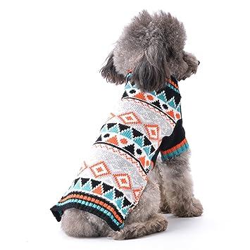 ABRRLO Sudadera Cálida para Mascotas, Perro, Cachorro, Gato, Ropa de Punto: Amazon.es: Productos para mascotas